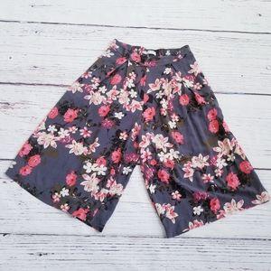 Abercrombie & Fitch Floral Wide Leg Culottes